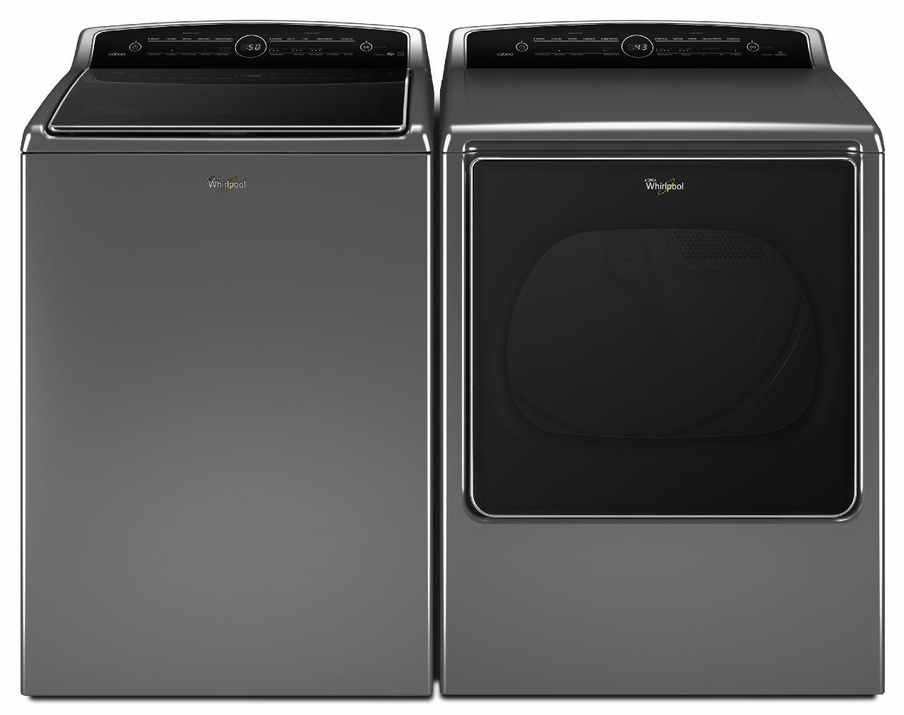 Whirlpool Washer and Dryer Sets Top-Load Washer and Front-Load Elec Dryer - Item Number: WTW8500DC+WED8500DC