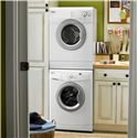 Whirlpool Washers ENERGY STAR® Qualified 2.0 Cu. Ft. Compact Front-Load Washer with Time Remaining Display - Shown with Stacked Dryer Option