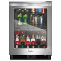 Whirlpool Wine Cellars 24-inch Wide Undercounter Beverage Center - Item Number: WUB50X24EM