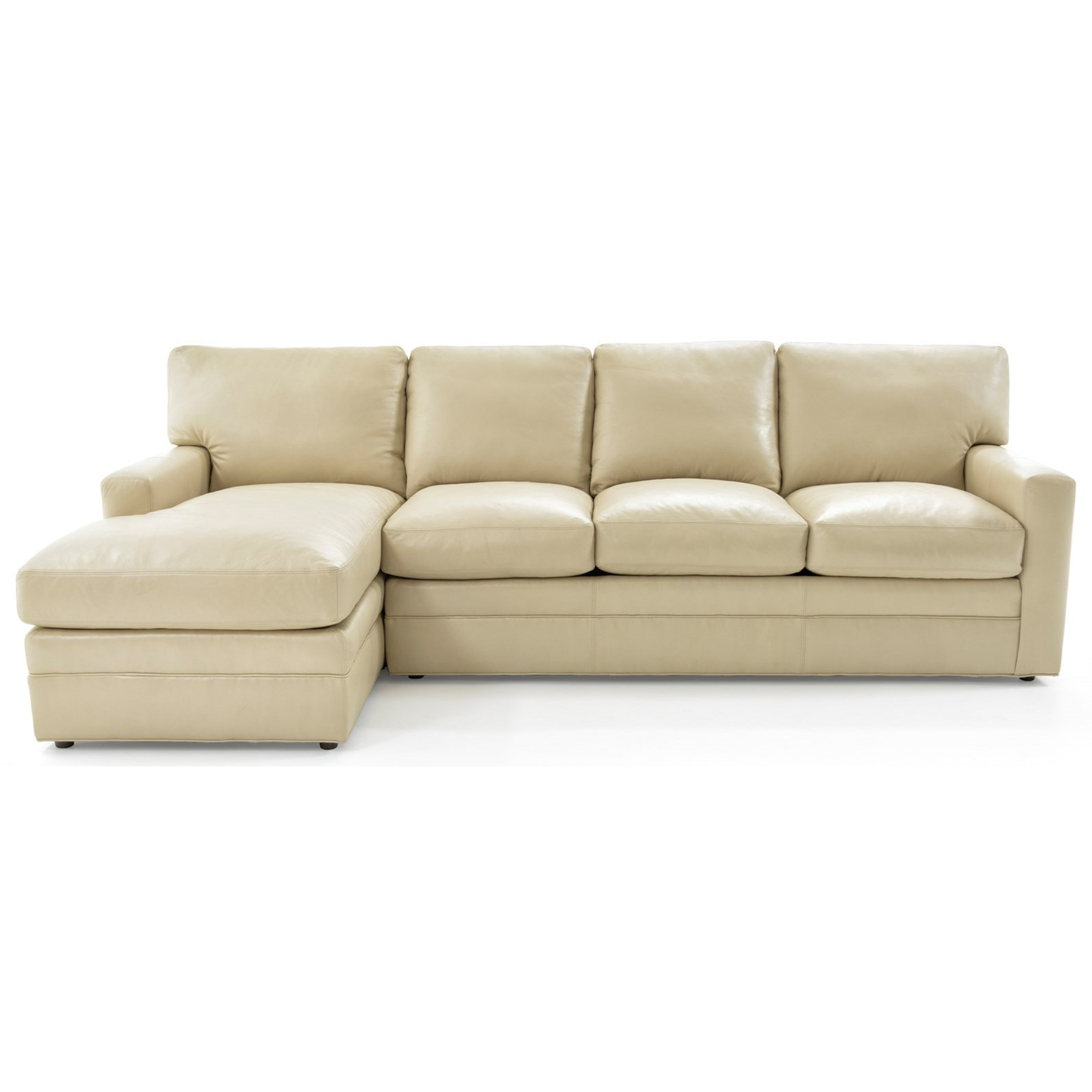 Whittemore-Sherrill 442 2 Pc L-Shape Sectional Sofa w/ LAF Chaise - Item Number: 442-35+442-43-MONTAN 445 LINEN