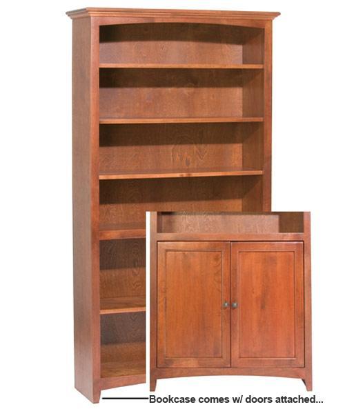 Alder Bookcase w/ Doors