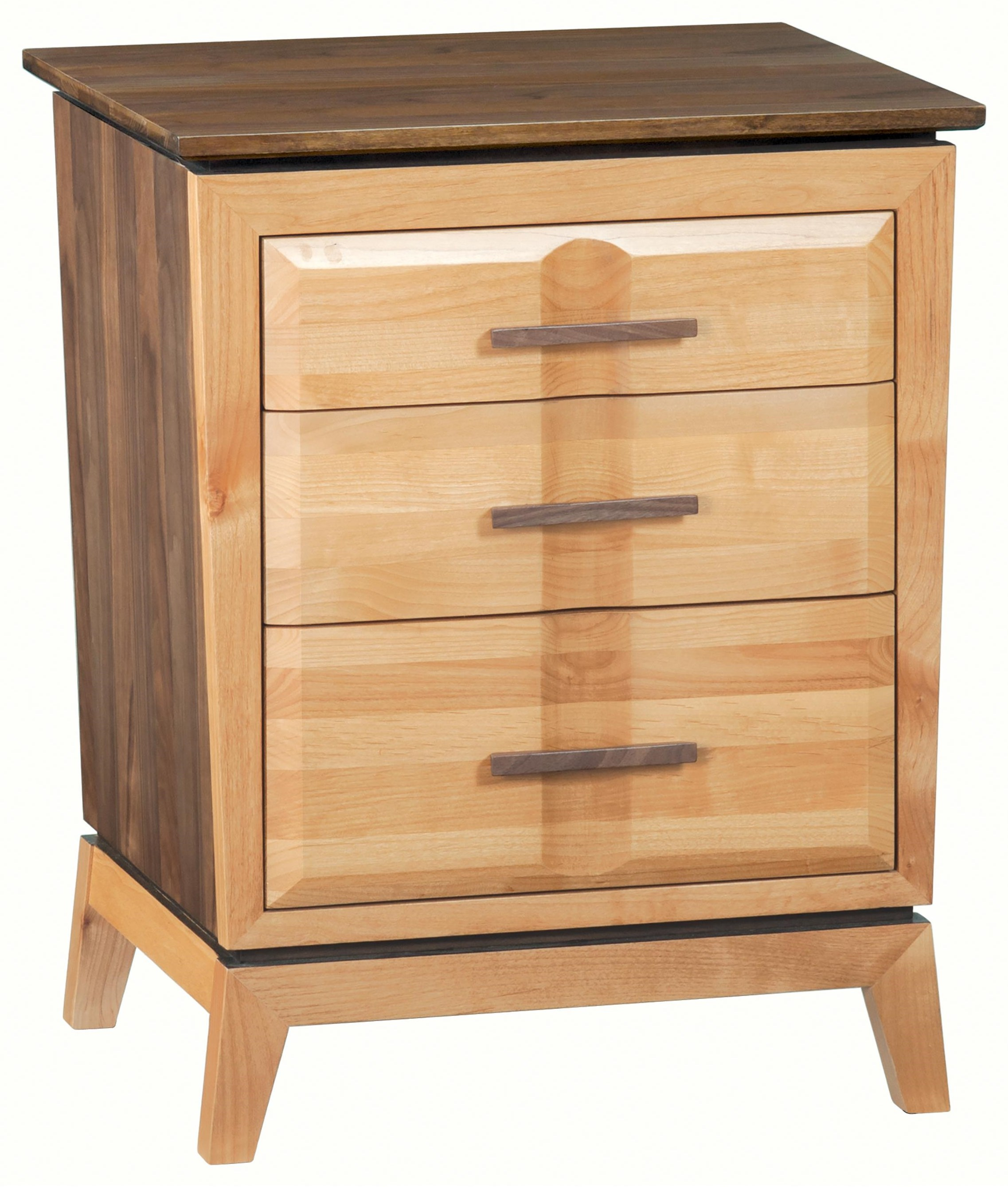 Addison 3-Drawer Nightstand by Whittier Wood at Crowley Furniture & Mattress