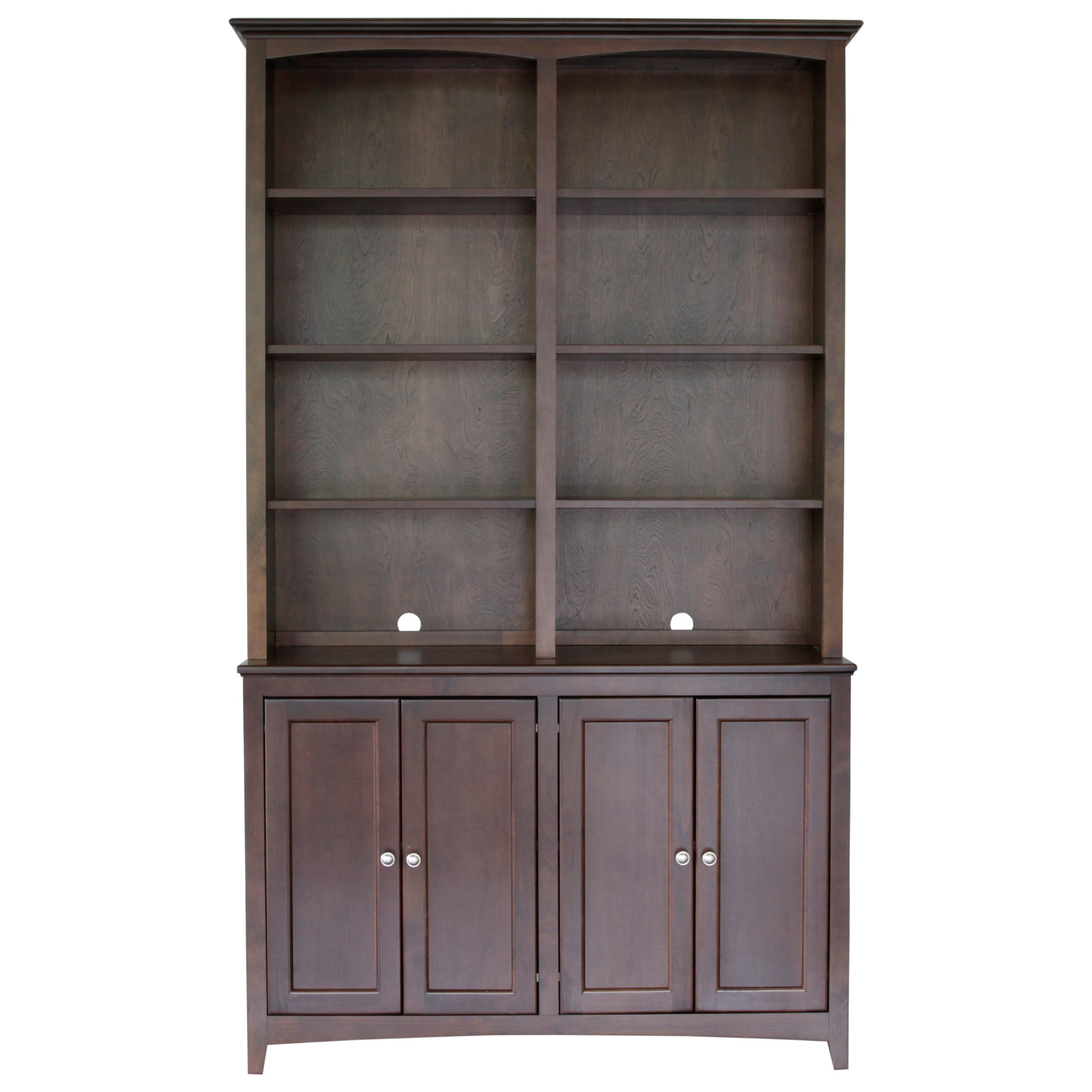 "McKenzie 48"" Cabinet and Hutch by Whittier Wood at HomeWorld Furniture"