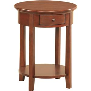 Whittier Wood McKenzie Round Side Table