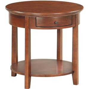 Whittier Wood McKenzie Round End Table