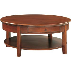 Whittier Wood McKenzie Round Cocktail Table