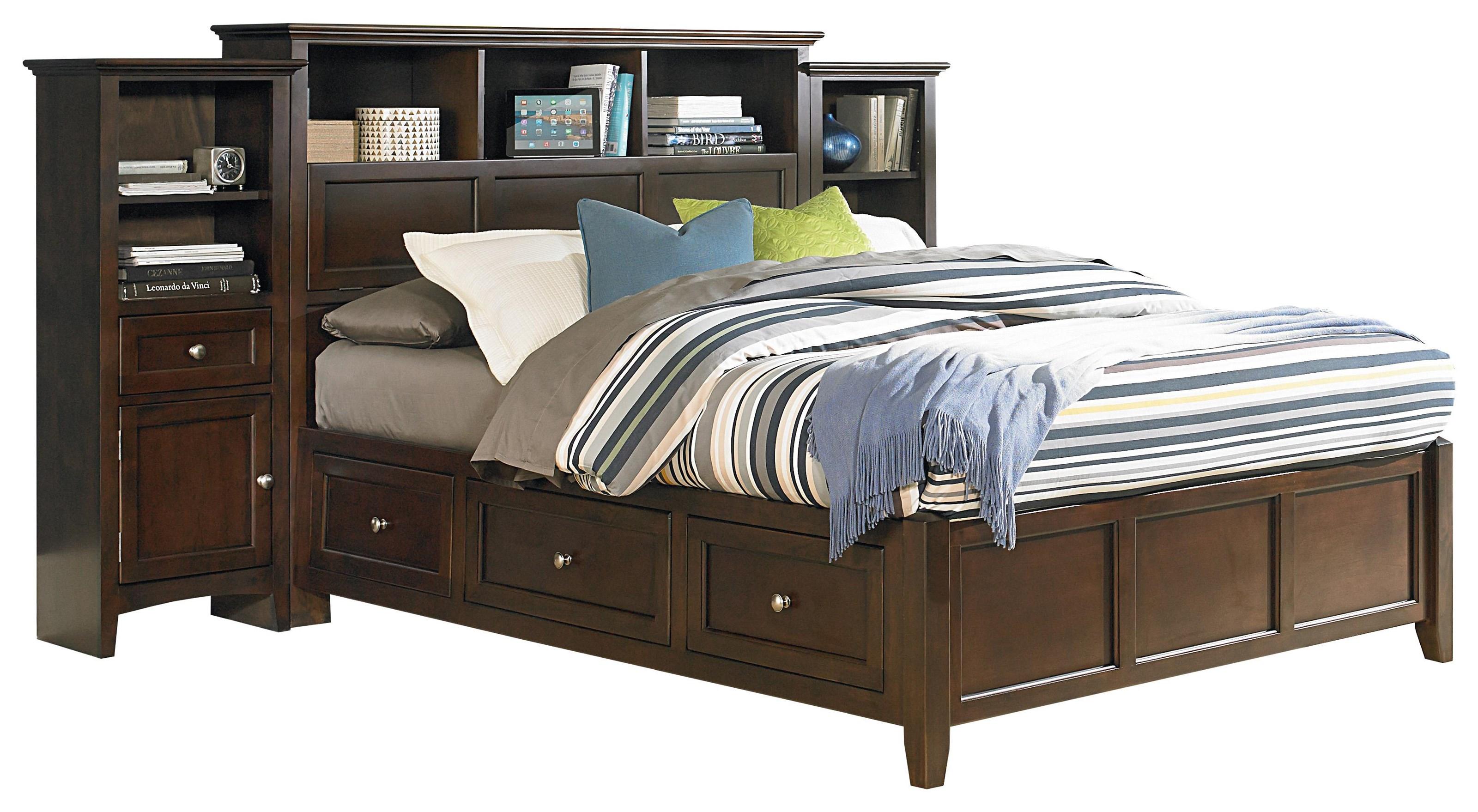 King Pedestal Bed Bookcase Headboard Piers Sadler S Home Furnishings Pier Beds