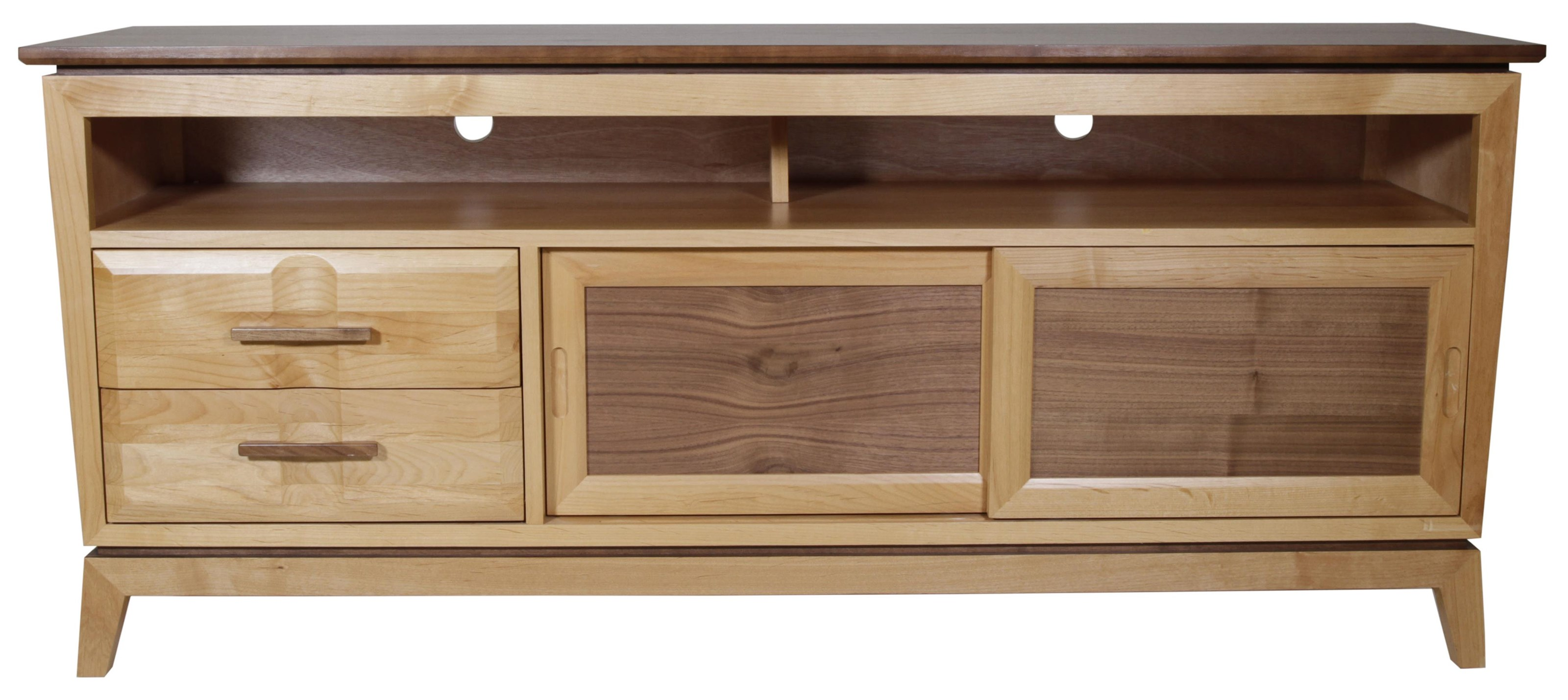 Addison TV Console by Whittier Wood at HomeWorld Furniture