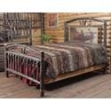 Wildwoods Barnwood Hickory Bedroom Queen Wagon Wheel Bed - Item Number: 2110