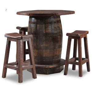 4 Piece Whiskey Barrel Pub Table Set
