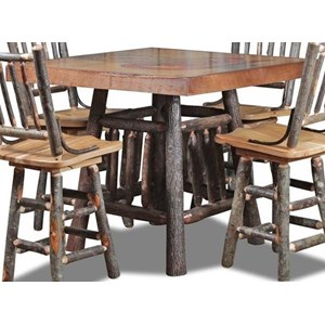 Wildwoods Hickory Base Gathering Counter Height Gathering Table  sc 1 st  Conlinu0027s Furniture & Pub Tables | Montana North Dakota South Dakota Minnesota and ...