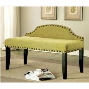 Williams Imports Regan Contemporary Linen-Like Fabric Bench