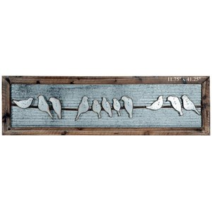 Will's Company Accents Framed Birds on Wire Wall Art