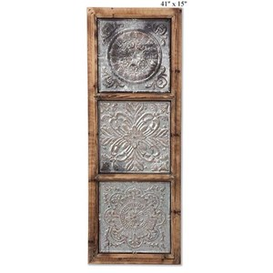 """Will's Company Accents Pressed Tin Wall Art - 41"""""""
