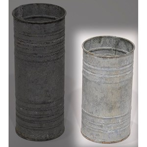 "Will's Company Accents Zinc Pillar Hldr/Vase 6"""
