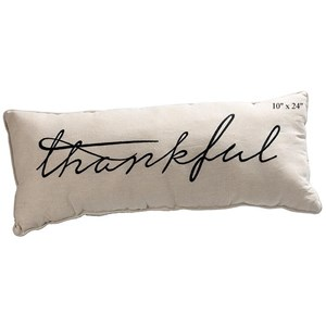 "Will's Company Accents Thankful Pillow - 10""x 24"""