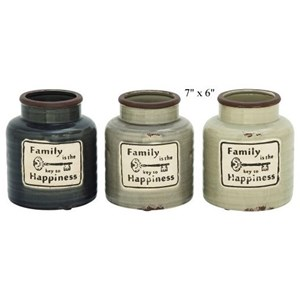 "Will's Company Accents Family Jar/Vase - 7"" x 6"""