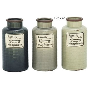 "Will's Company Accents Family Jar/Vase - 12"" x 6"""
