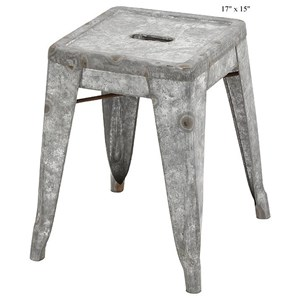 Will's Company Accents Galvanized Stool 17""