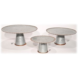 Will's Company Accents Galvanized Stands/Pedestals Set of 3