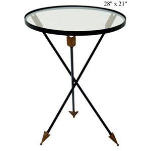 "Will's Company Accents Arrow Glass Table 21""x 28"""
