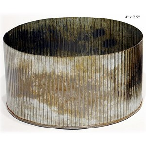 "Will's Company Accents Galvanized Norah Bowl - 4"" x 7.5"""