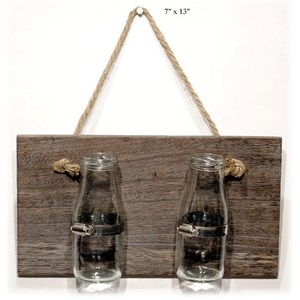 "Will's Company Accents Industrial Double Jar Wall Hanger - 7"" x 13"""