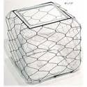 """Will's Company Accents Square Vase with Wire - 8"""" - Item Number: D64579"""