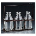 "Will's Company Accents 3 Bottles in a Carrier - 4.5"" x 7.5"" - Item Number: D94005"