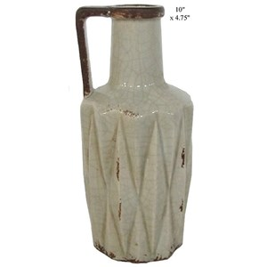 """Will's Company Accents Vase with Handle - 10"""""""