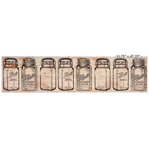 """Will's Company Accents Mason Jar Canvas Wall Art - 12"""" x 47"""""""