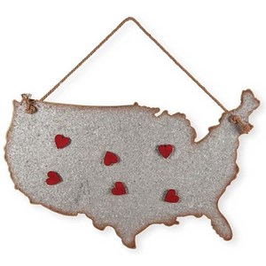 "Will's Company Accents Galvanized USA w/Magnets - 22"" x 30"""