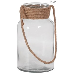 Will's Company Accents Jar with a Rope Handle - 10""