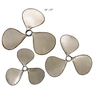 "Will's Company Accents Set of 3 Wall Propellers - 19"" to 27"""