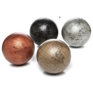 "Will's Company Accents Set of 4 'Metallic' Globe Balls - 5"""