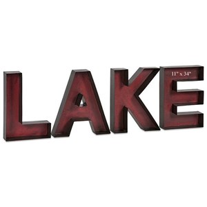 "Will's Company Accents ""LAKE"" Letters set/4"