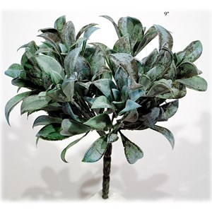 "Will's Company Accents Laurel Bush 9"" Gray Green"