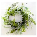 "Will's Company Accents Mixed Greens Wreath - 18"" - Item Number: L61782WR18"