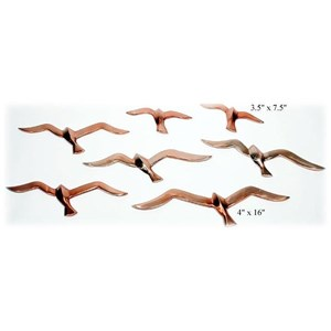 Will's Company Accents Set of 7 Wall Birds