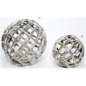 "Will's Company Accents Set of 2 Balls - 5"" & 7"""