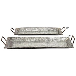 "Will's Company Accents Set of 2 Rectangle Trays - 25""/29"""