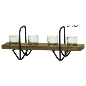 """Will's Company Accents Wood Candle Holder - 16"""""""