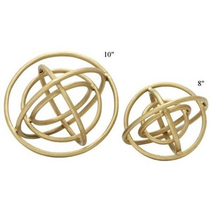"Will's Company Accents Set of 2 Ring Orbs - 8"" & 10"""