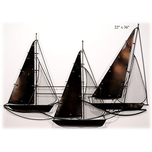 "Will's Company Accents Sailboat Wall Decor - 22"" x 36"""