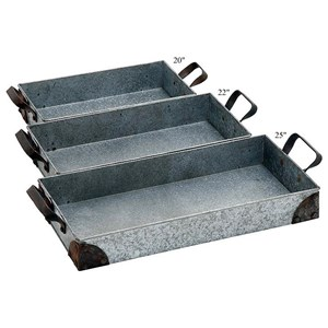 "Will's Company Accents Set of 3 Trays - 20""/22""/25"""