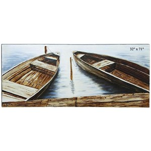 "Will's Company Accents Boat Canvas Wall Art - 71"" x 32"""