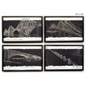 "Will's Company Accents Bridge Sketch Wall Art - 10"" x 16"", Set of 4 - Item Number: U56004"