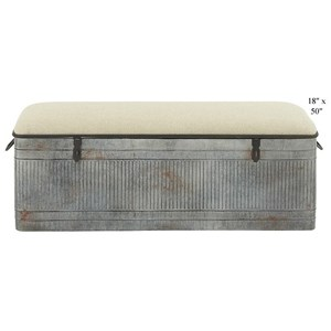 """Will's Company Accents Bench w/Storage - 50"""""""