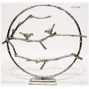"Will's Company Accents Circle Bird Table Art 19"""