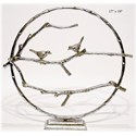 """Will's Company Accents Circle Bird Table Art 19"""" - Item Number: U70956"""